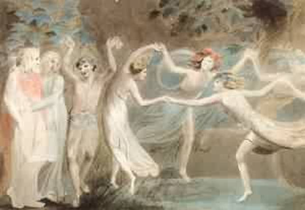 Oberon titania with fairies dancing 1786